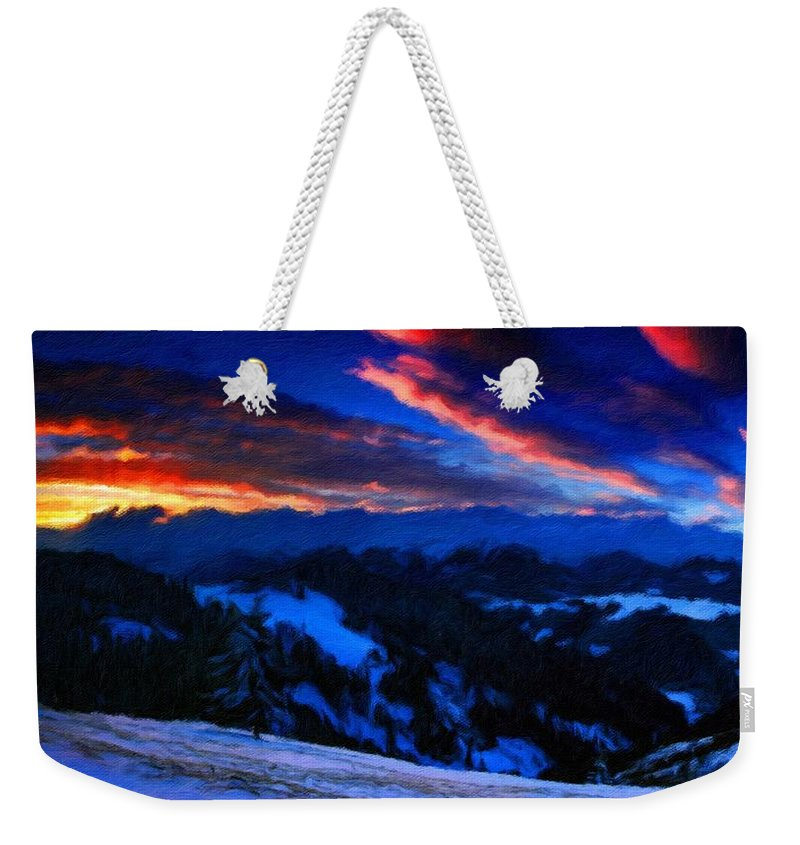 New Weekender Tote Bag featuring the digital art Pictures Nature by Usa Map