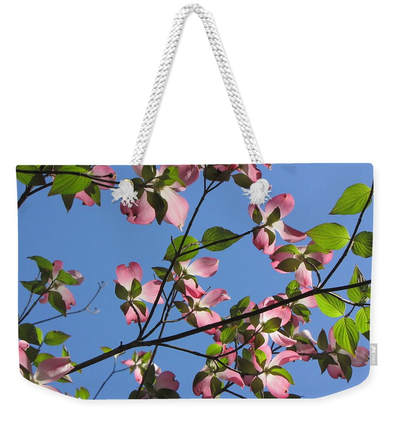 Tree Weekender Tote Bag featuring the photograph Pink Dogwood by Sarah Houser