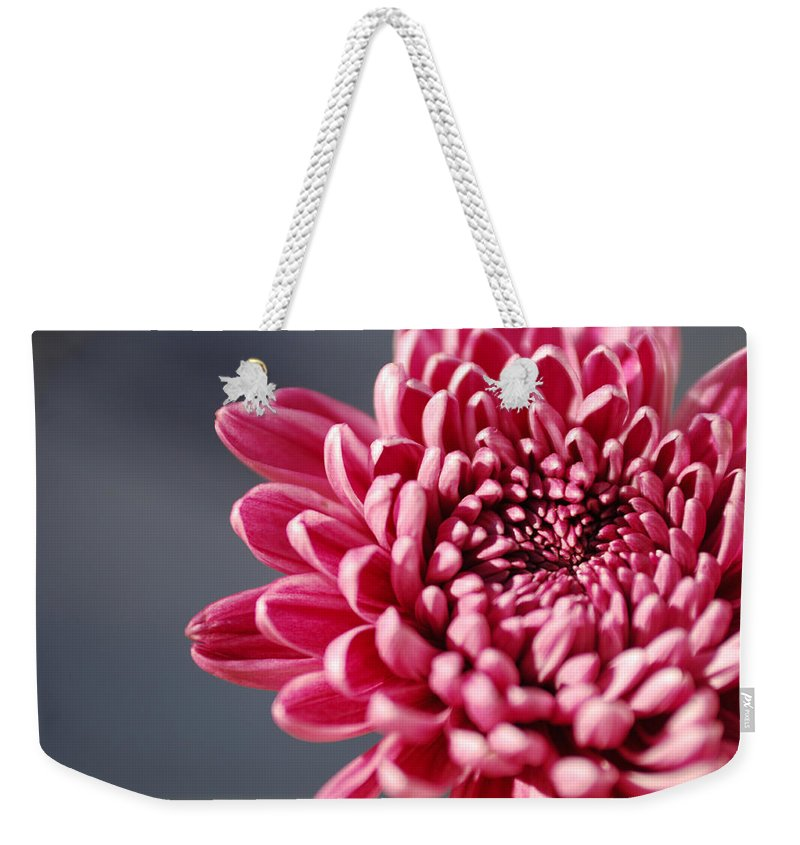 Flower Weekender Tote Bag featuring the photograph Pink Flower by Jill Reger