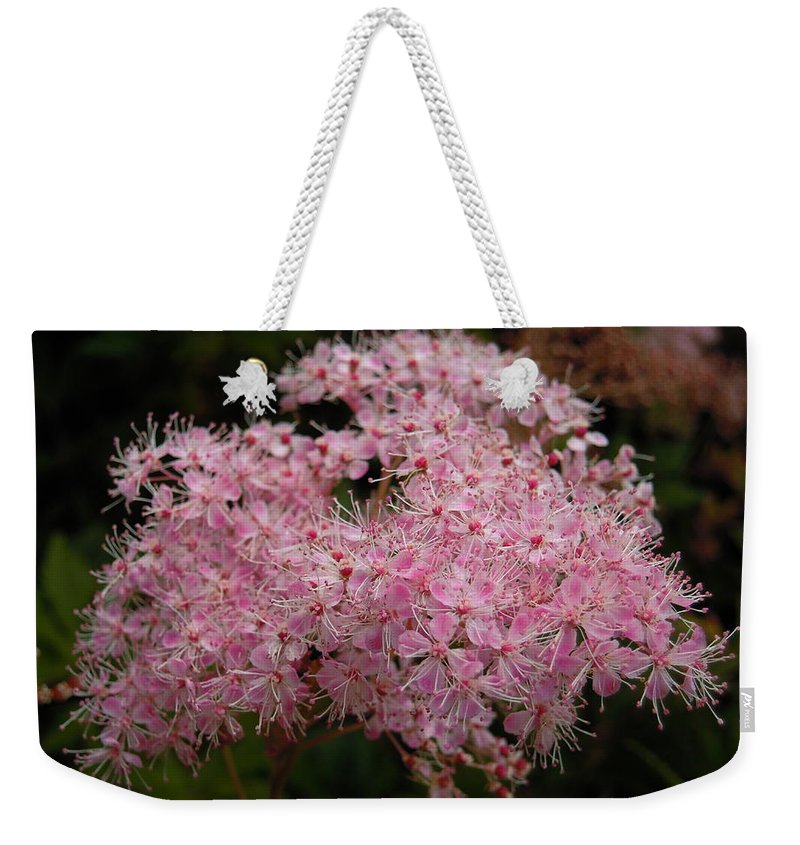 Pink Weekender Tote Bag featuring the photograph Pink Flower by Svetlana Sewell