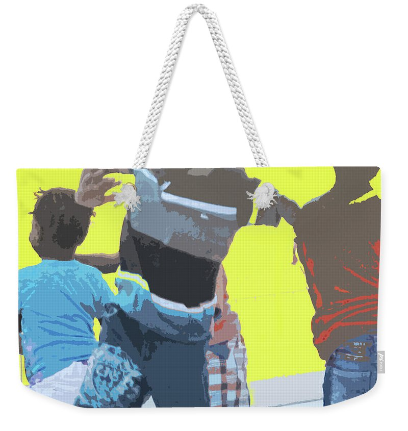 Children Weekender Tote Bag featuring the photograph Play by Ian MacDonald