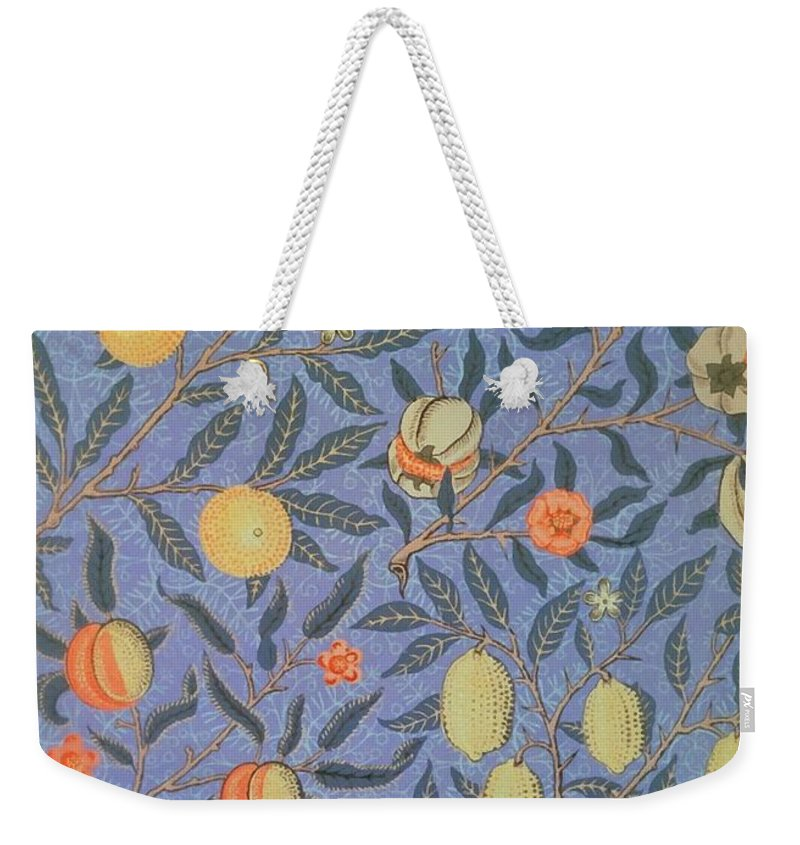 Artistic Weekender Tote Bag featuring the painting Pomegranate by William Morris