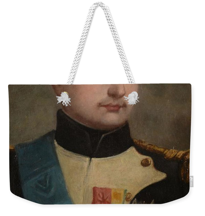 Stefano Chiantore (fl. 1772-1849) Portrait Of Napoleon Buonaparte Weekender Tote Bag featuring the painting Portrait Of Napoleon Buonaparte by MotionAge Designs