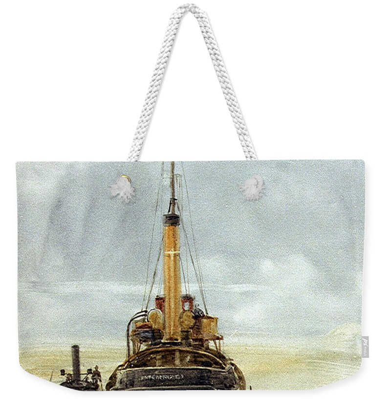 William Lionel Wyllie Weekender Tote Bag featuring the painting Portsmouth by William Lionel