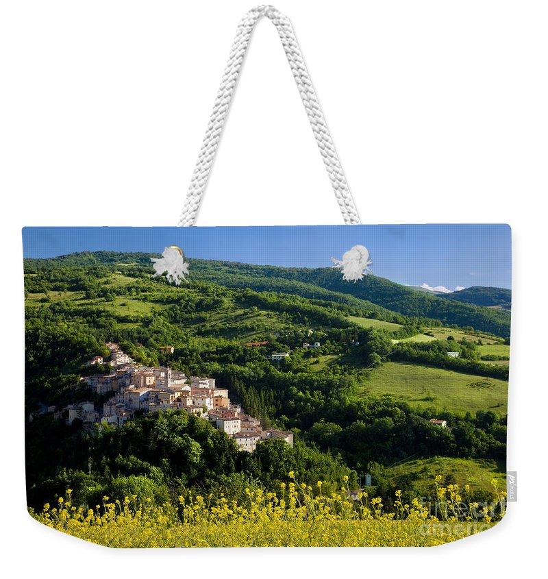 Preci Weekender Tote Bag featuring the photograph Preci Umbria by Brian Jannsen