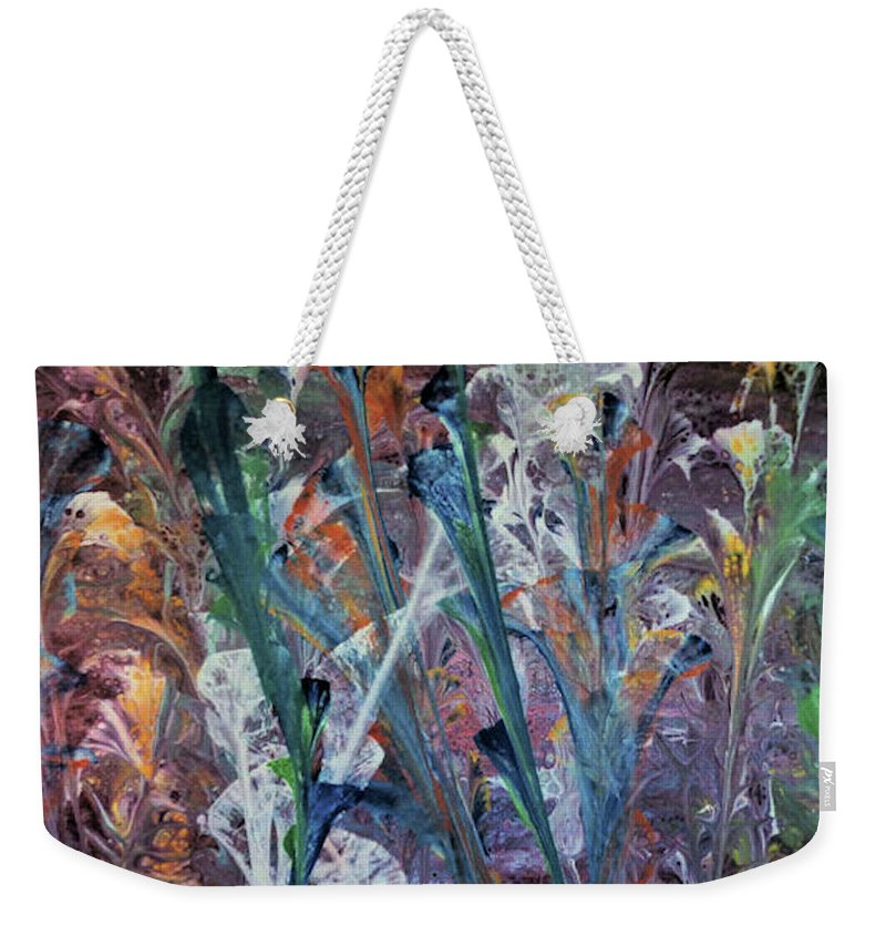 Original Weekender Tote Bag featuring the painting Primordial Garden, India by Diana Robbins