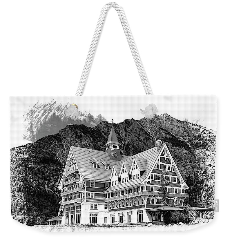 Prince Weekender Tote Bag featuring the photograph Prince Of Wales Hotel by Margie Wildblood