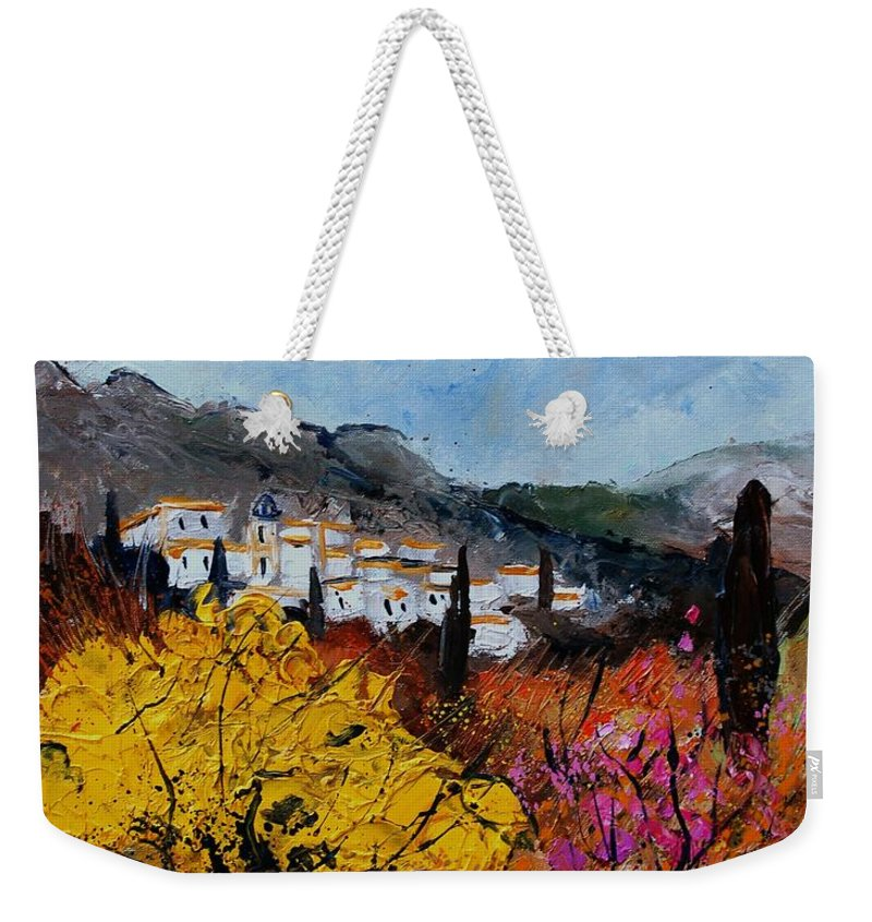 Provence Weekender Tote Bag featuring the painting Provence by Pol Ledent