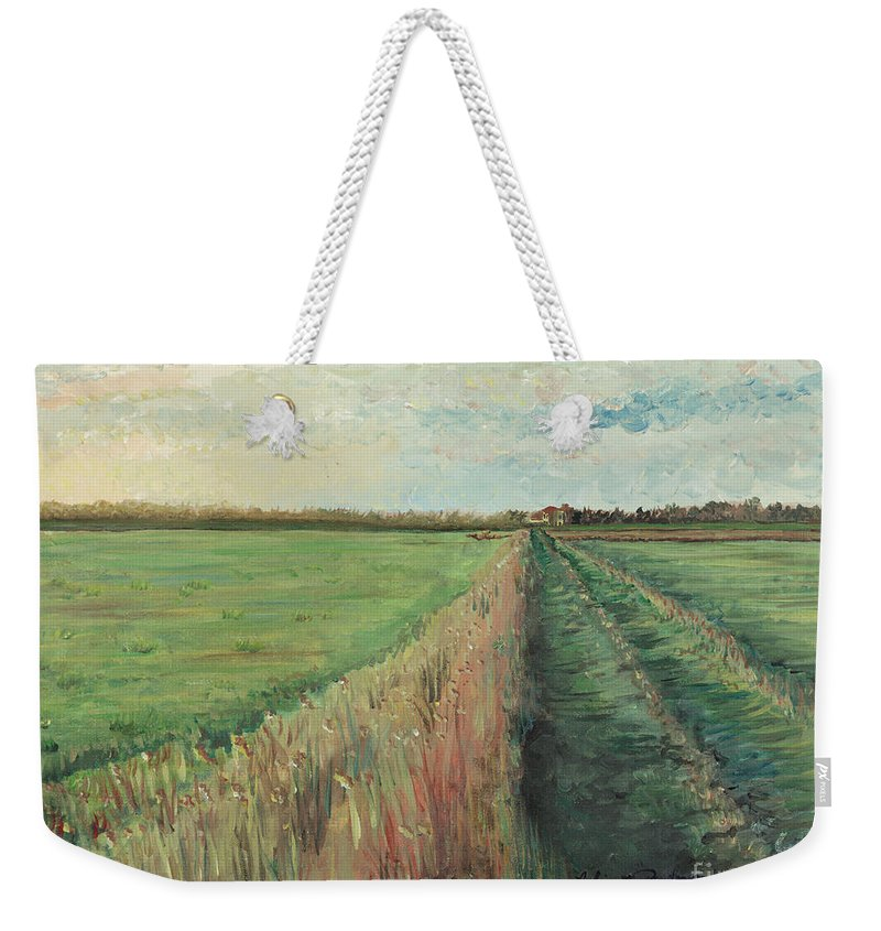 Provence Weekender Tote Bag featuring the painting Provence Villa by Nadine Rippelmeyer