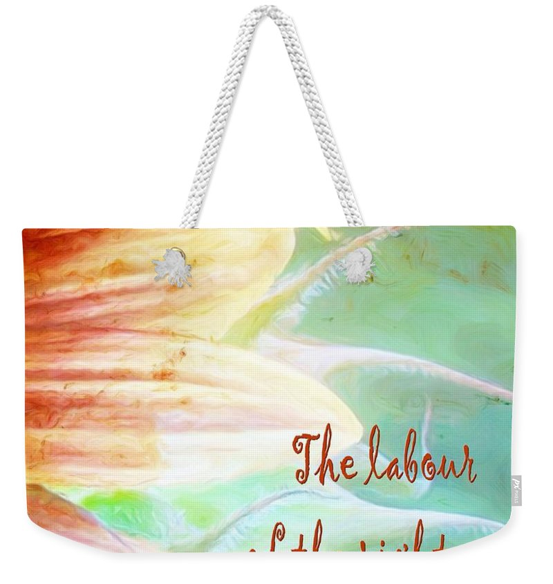 Jesus Weekender Tote Bag featuring the digital art Proverbs 10 16 by Michelle Greene Wheeler