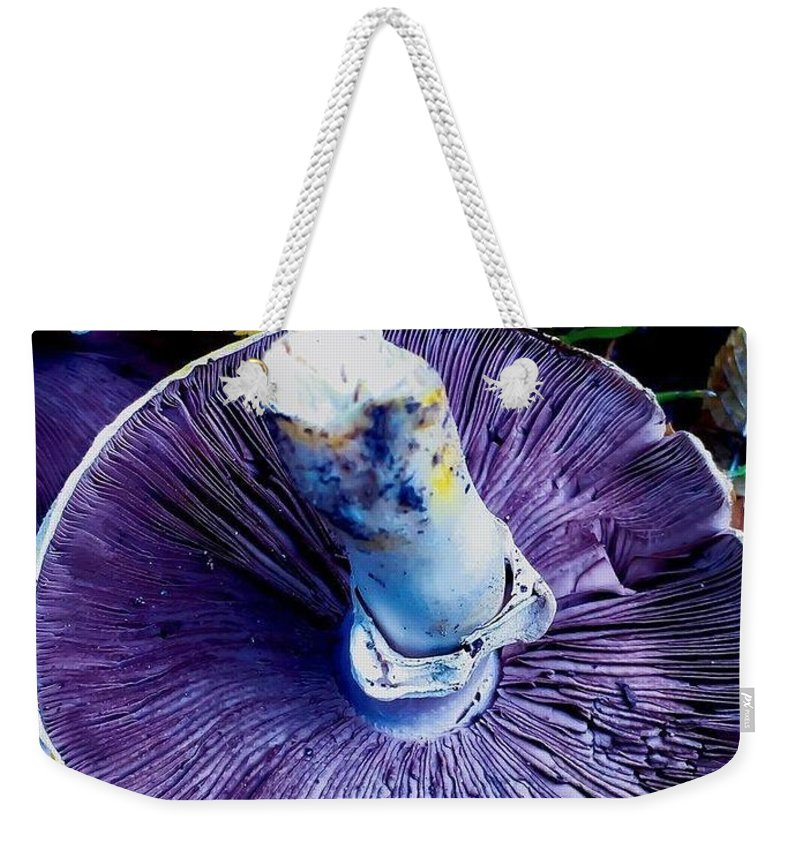Weekender Tote Bag featuring the photograph Purple by Lisa Anne Warren