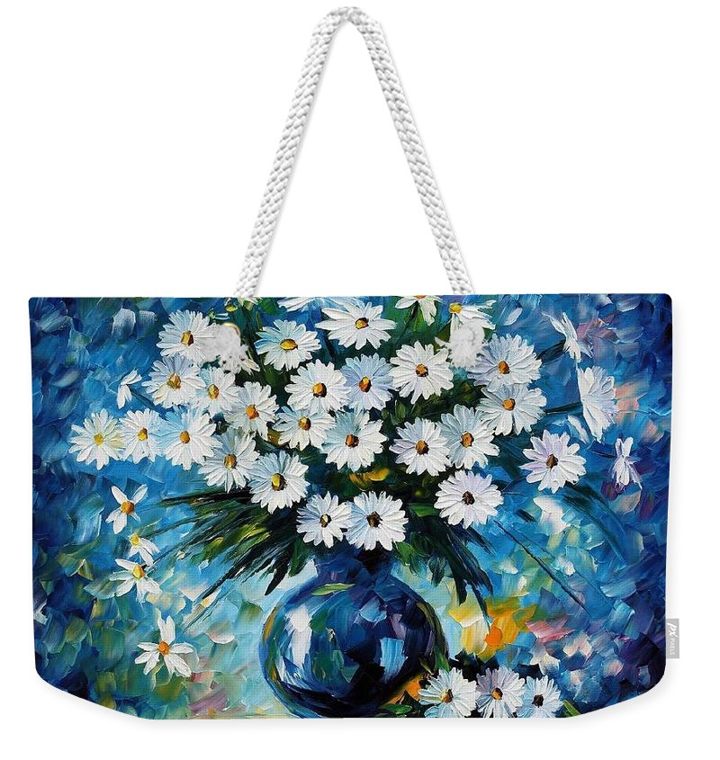 Afremov Weekender Tote Bag featuring the painting Radiance by Leonid Afremov