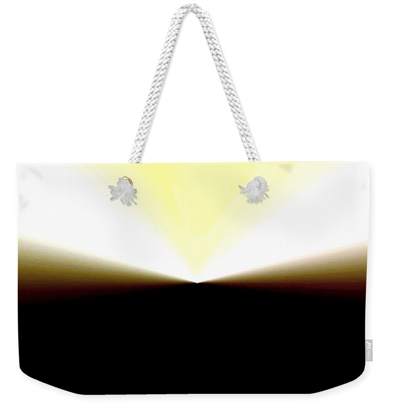 Abstract Weekender Tote Bag featuring the digital art Radiation by Will Borden