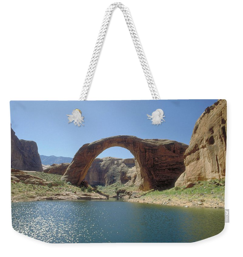 Rainbow Bridge Weekender Tote Bag featuring the photograph Rainbow Bridge by Jerry McElroy