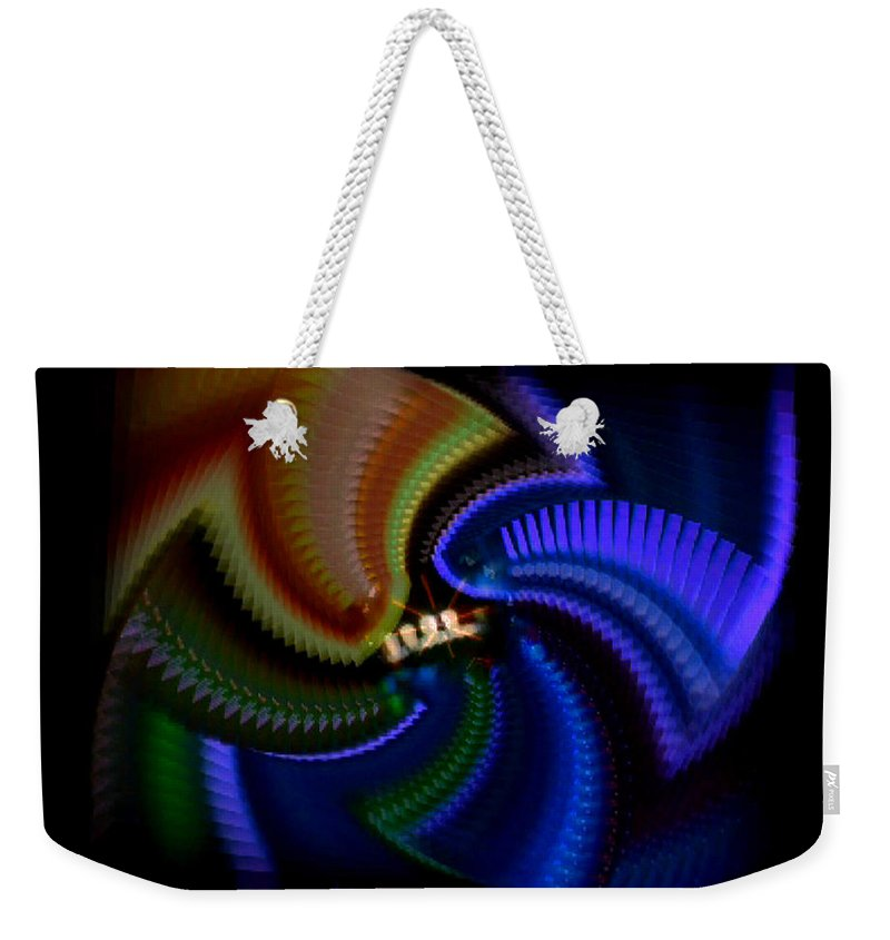 Chaos Weekender Tote Bag featuring the painting Rainbow by Charles Stuart