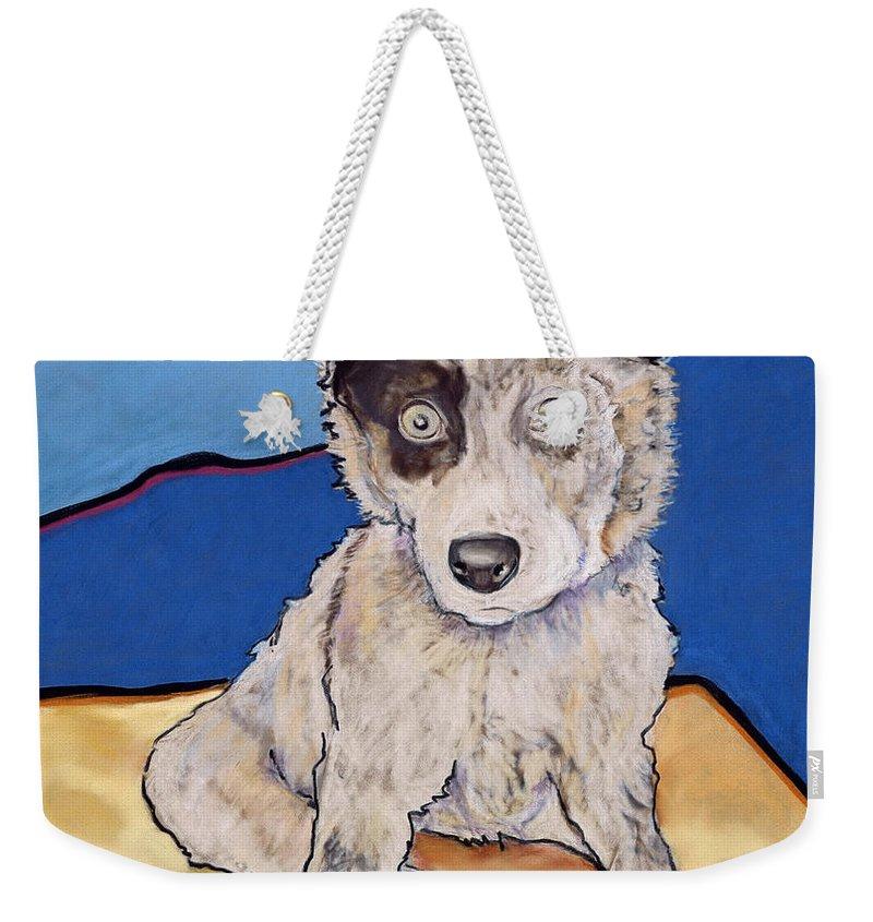 Aussie Weekender Tote Bag featuring the painting Reba Rae by Pat Saunders-White