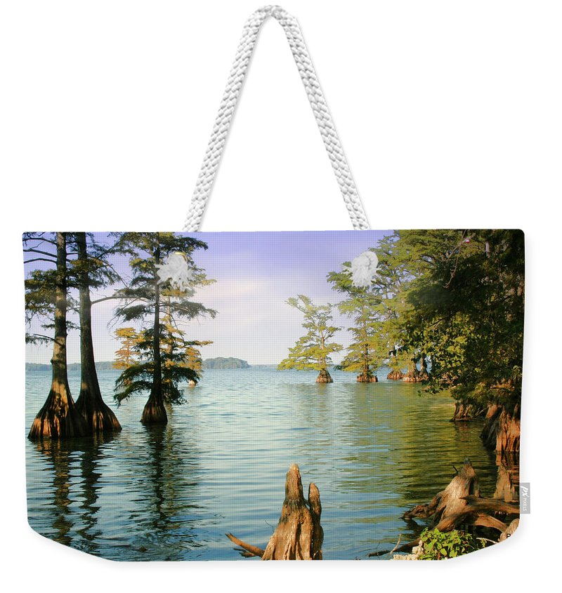 Lake Weekender Tote Bag featuring the photograph Reelfoot Lake by Bonnie Willis