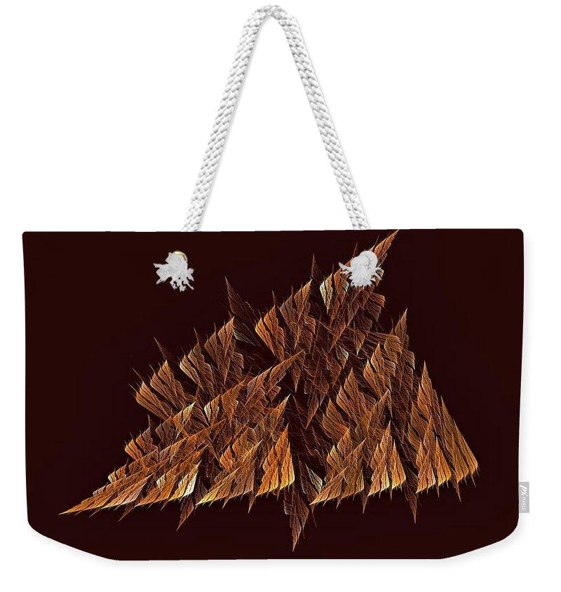 Weekender Tote Bag featuring the digital art Regatta Ragetti by Doug Morgan
