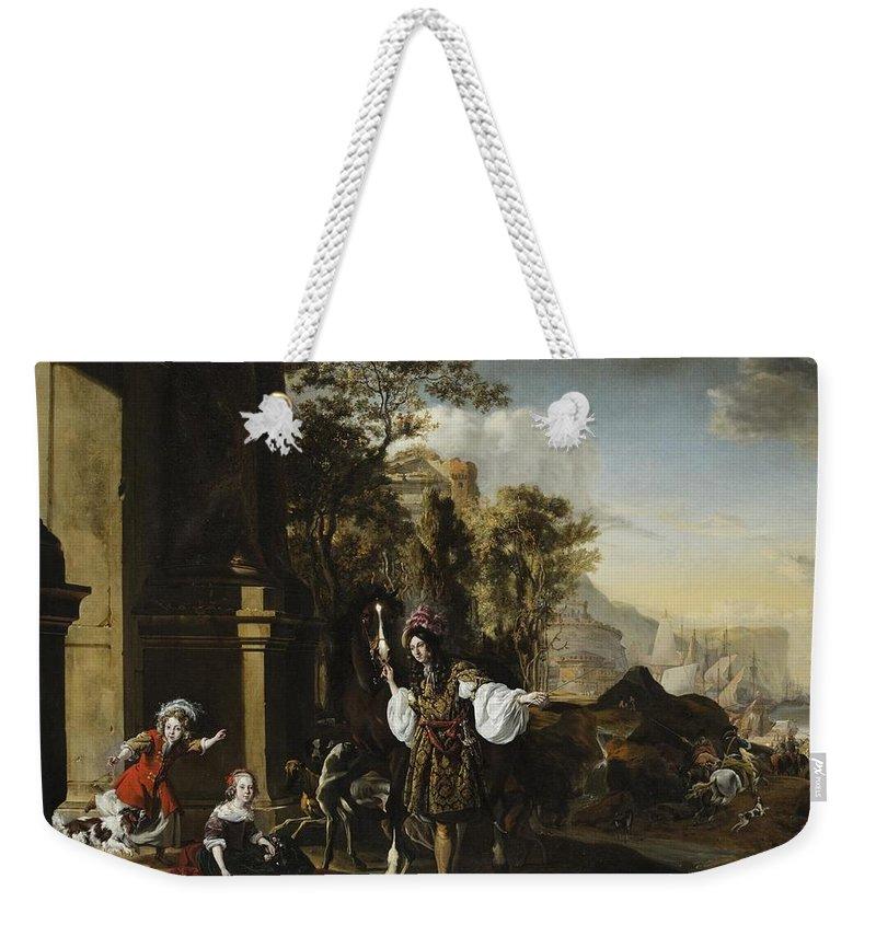 Jan Baptist Weenix Dutch 1621 - 1660 Return From The Hunt Weekender Tote Bag featuring the painting Return From The Hunt by Jan Baptist Weenix