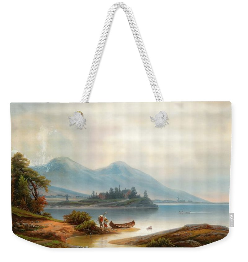 Johan Knutson Weekender Tote Bag featuring the painting Returning Home by MotionAge Designs