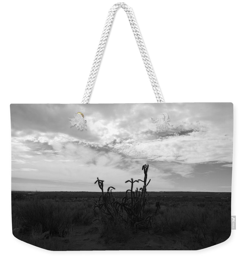 Black And White Weekender Tote Bag featuring the photograph Rio Rancho by Rob Hans