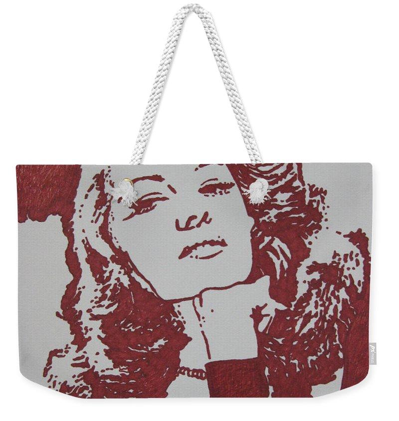 Rita Weekender Tote Bag featuring the drawing Rita by Lynet McDonald