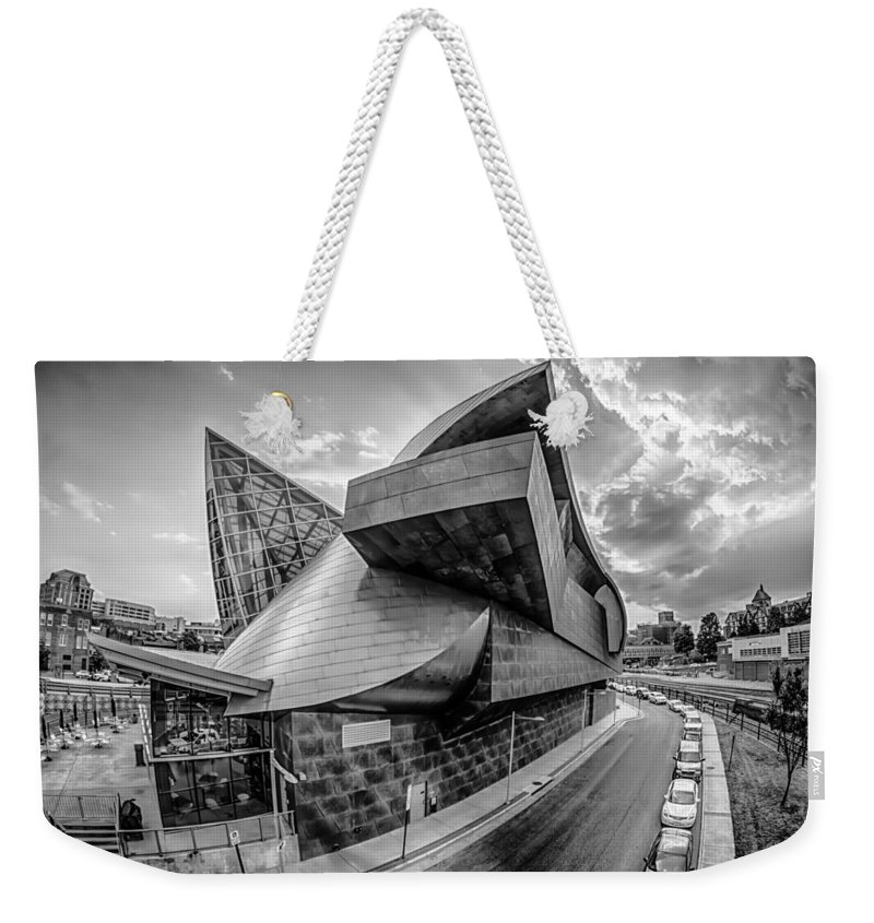 Appalachian Weekender Tote Bag featuring the photograph Roanoke Virginia City Skyline In The Mountain Valley Of Appalach by Alex Grichenko