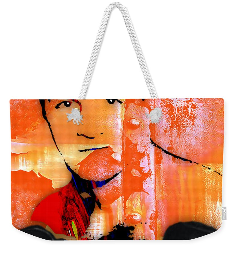 Rocky Marciano Weekender Tote Bag featuring the mixed media Rocky Marciano Collection by Marvin Blaine
