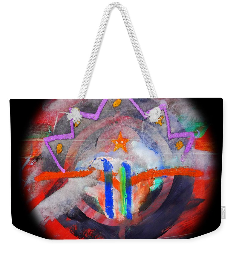 Mountains Weekender Tote Bag featuring the painting Rocky Mountain Pass by Charles Stuart