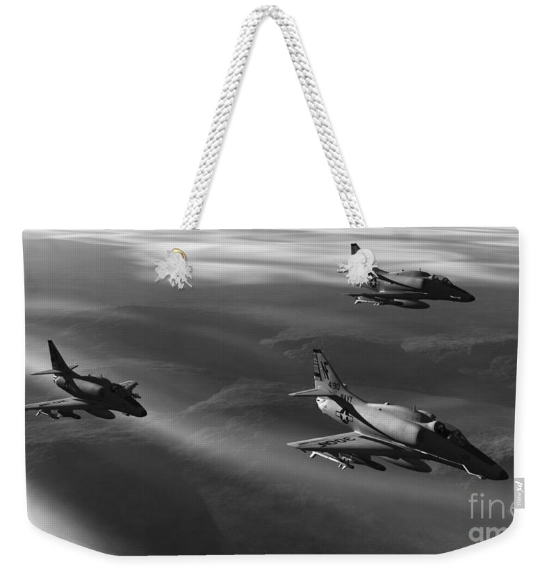 Aviation Art Weekender Tote Bag featuring the digital art Rolling Thunder by Richard Rizzo