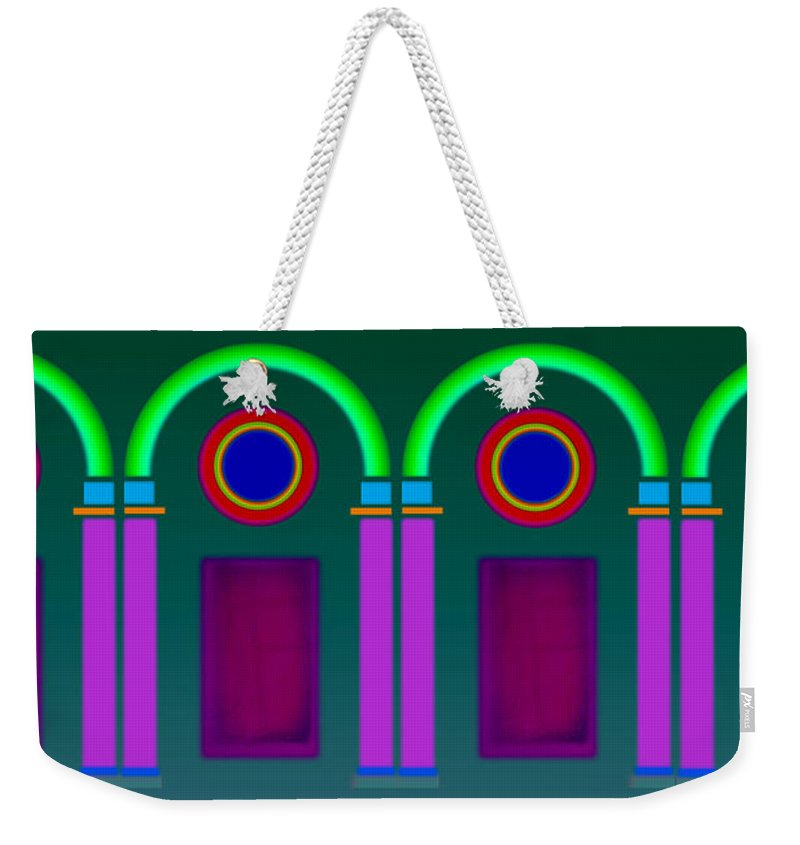 Classical Weekender Tote Bag featuring the painting Roman Architecture by Charles Stuart