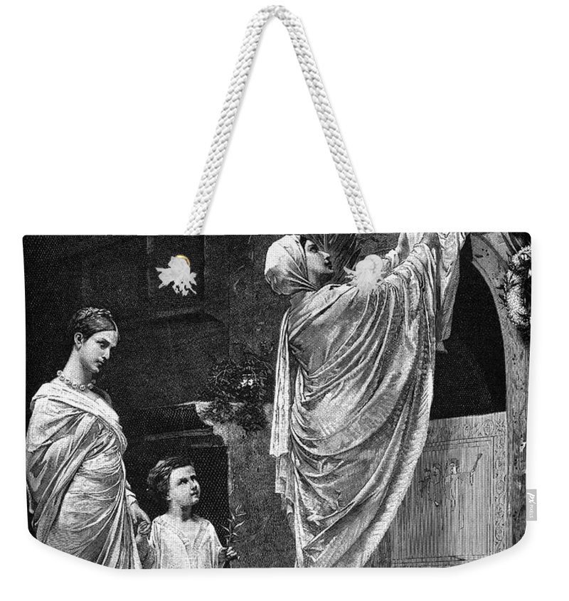 2nd Century Weekender Tote Bag featuring the photograph Rome: Christian Widow by Granger