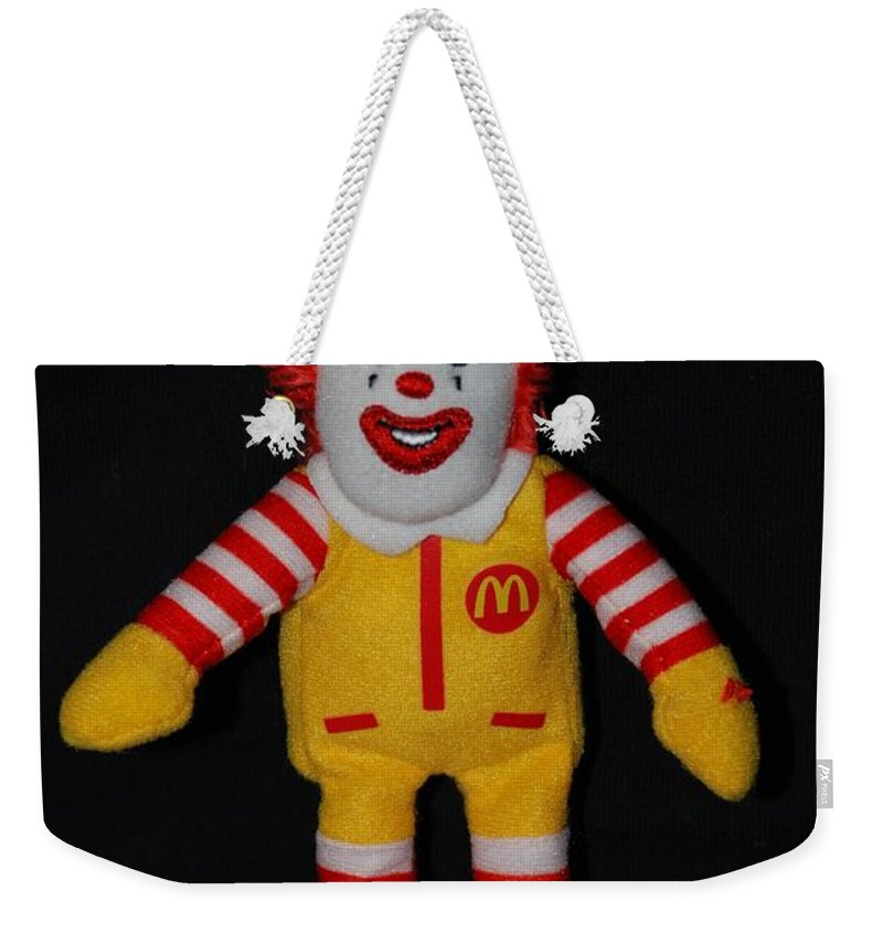 Ronald Mcdonald Weekender Tote Bag featuring the photograph Ronald Mcdonald by Rob Hans
