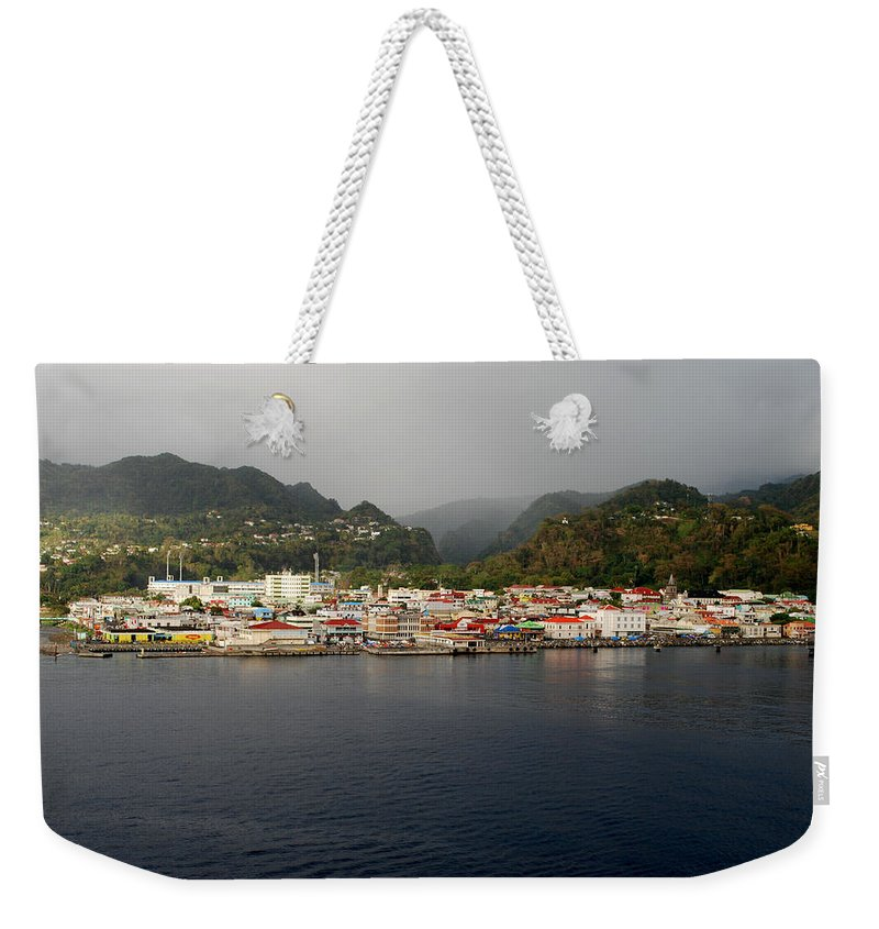 Island Paradise Weekender Tote Bag featuring the photograph Roseau Dominica by Gary Wonning