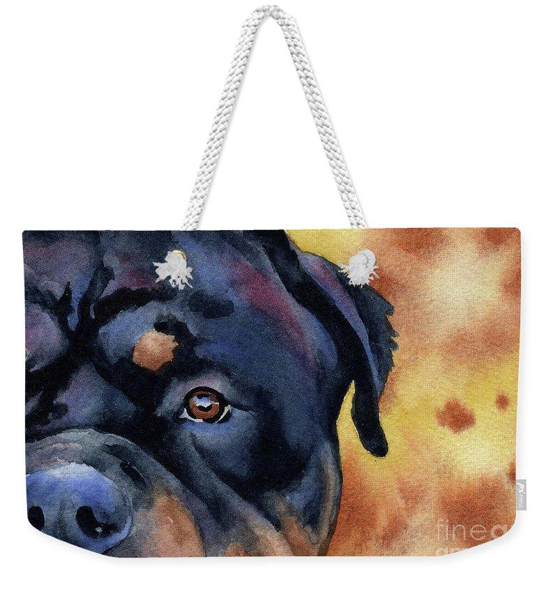 Rottweiler Weekender Tote Bags