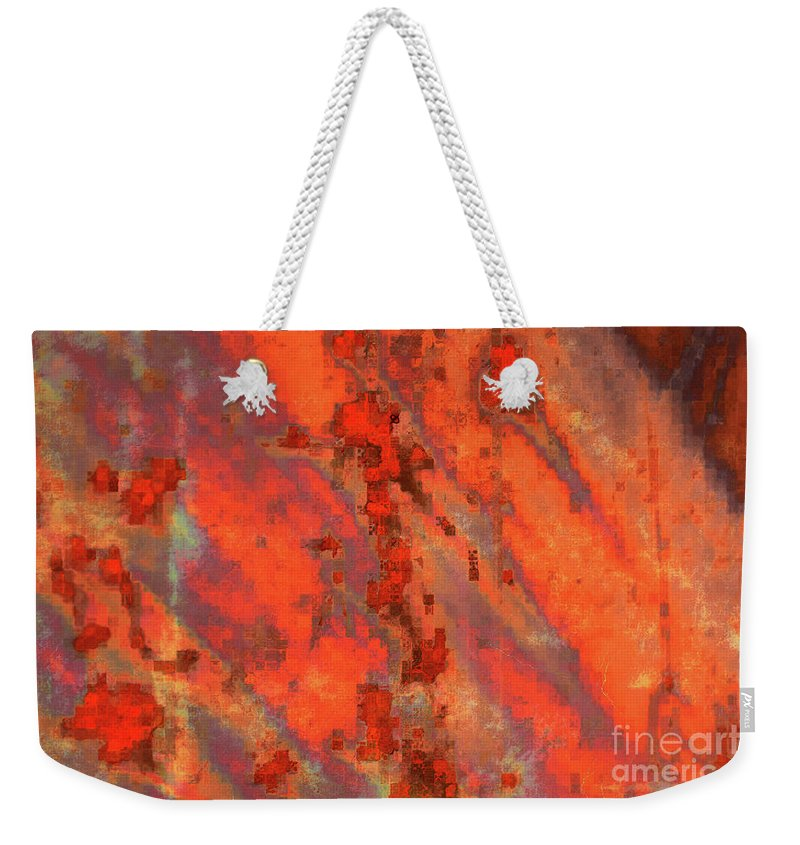 Digital Art Weekender Tote Bag featuring the photograph Rust Abstract by Carol Groenen