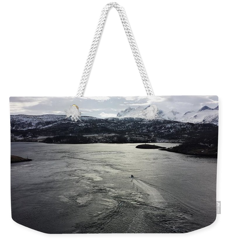 Saltstraumen View By Tamara Sushko Weekender Tote Bag featuring the photograph Saltstraumen View by Tamara Sushko