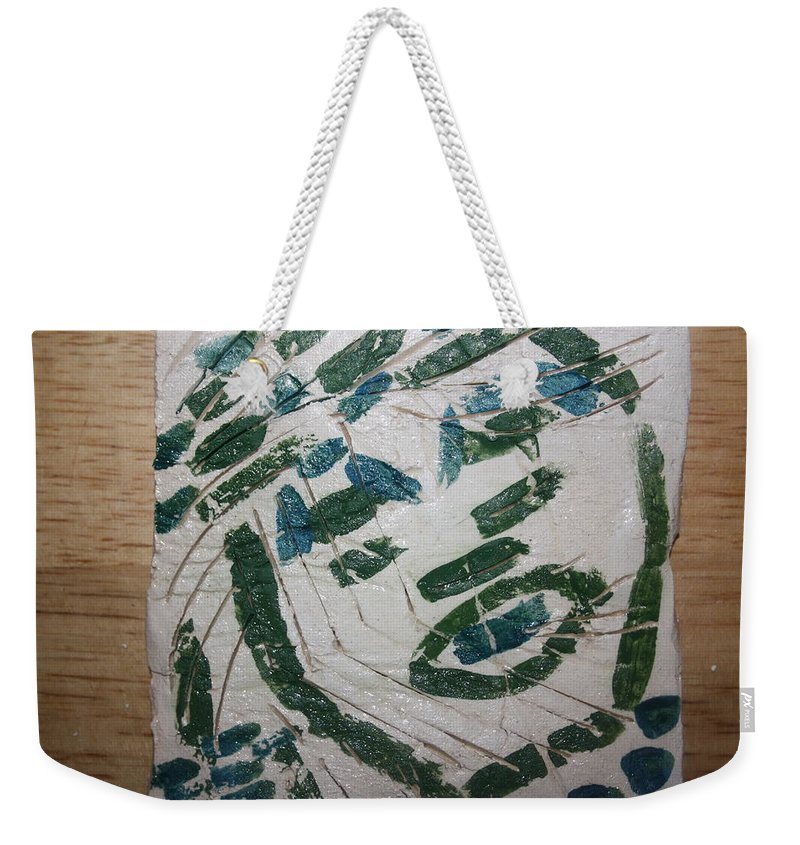 Jesus Weekender Tote Bag featuring the ceramic art Samson - Tile by Gloria Ssali