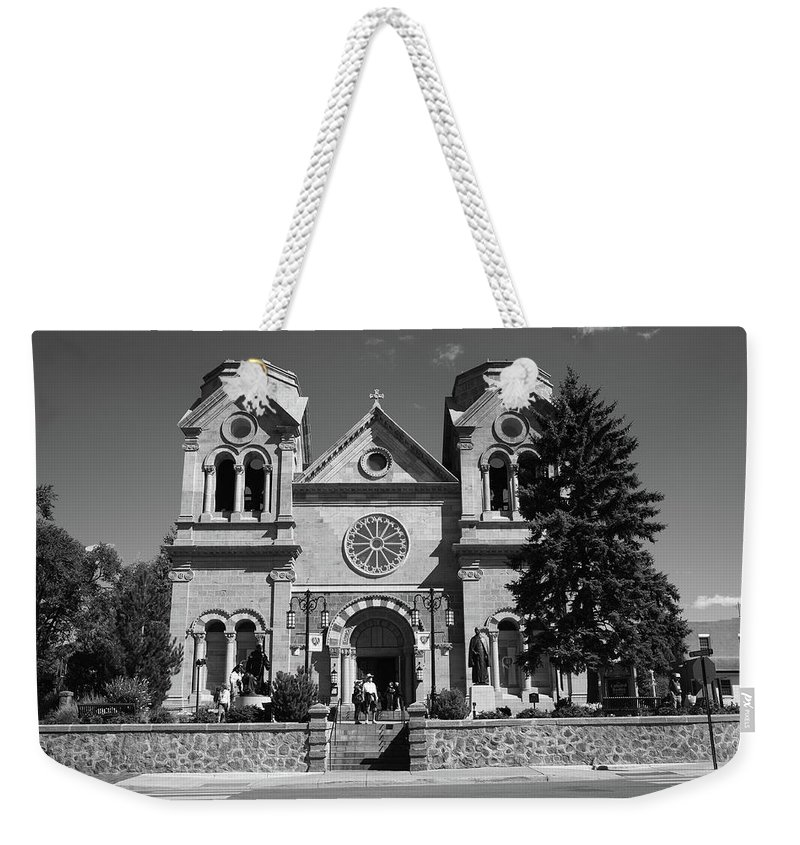 America Weekender Tote Bag featuring the photograph Santa Fe - Basilica Of St. Francis Of Assisi by Frank Romeo