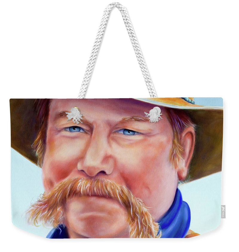 Man Weekender Tote Bag featuring the painting Santana Jack by Shannon Grissom
