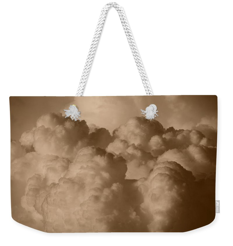Sepia Weekender Tote Bag featuring the photograph Sepia Clouds by Rob Hans