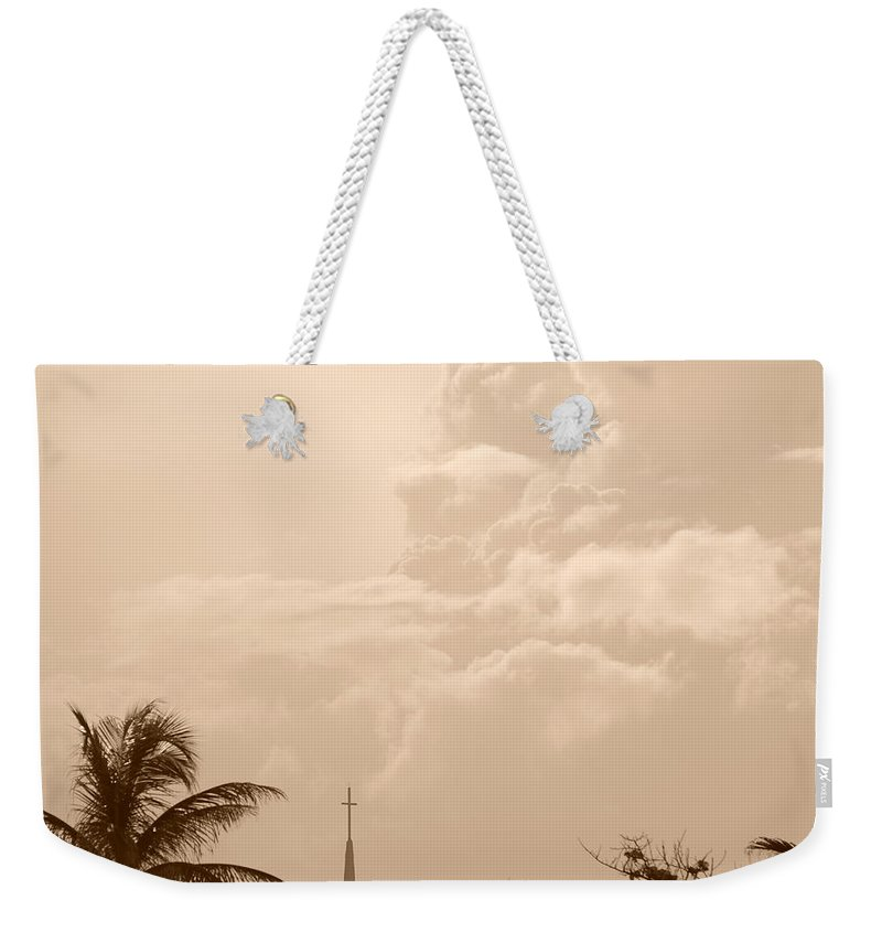 Sepia Weekender Tote Bag featuring the photograph Sepia Sky by Rob Hans