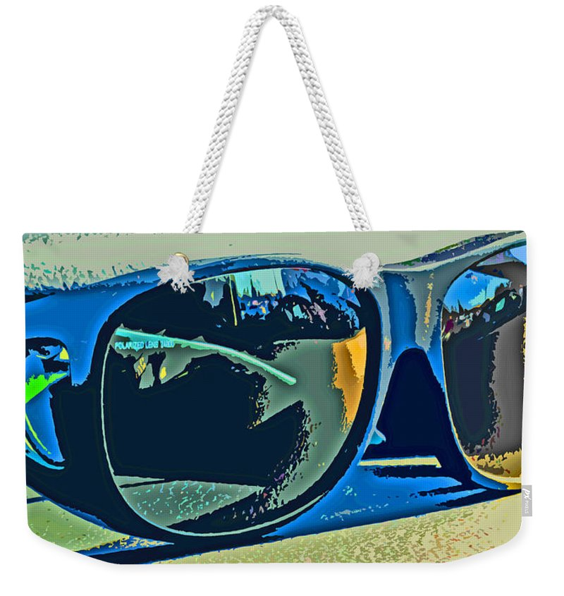 Sunglasses Weekender Tote Bag featuring the photograph Shades by Ian MacDonald