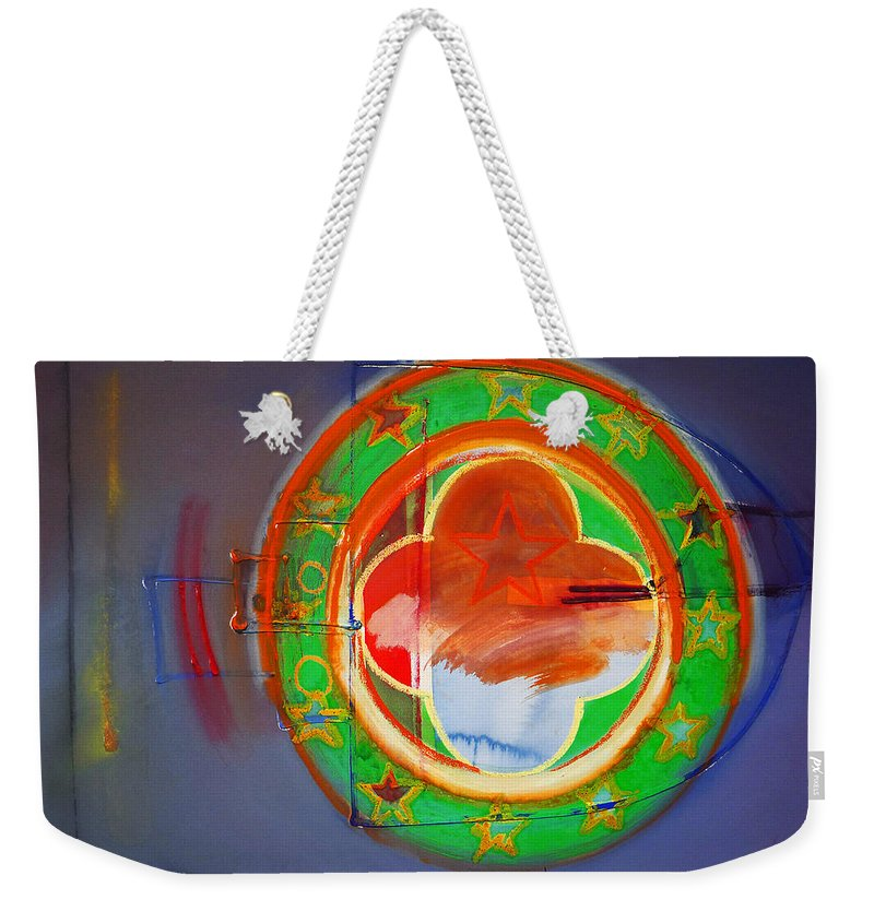 Symbol Weekender Tote Bag featuring the painting Ship Of State by Charles Stuart