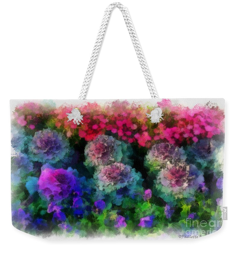 Flower Weekender Tote Bag featuring the painting Signs Of Spring by Paulette B Wright
