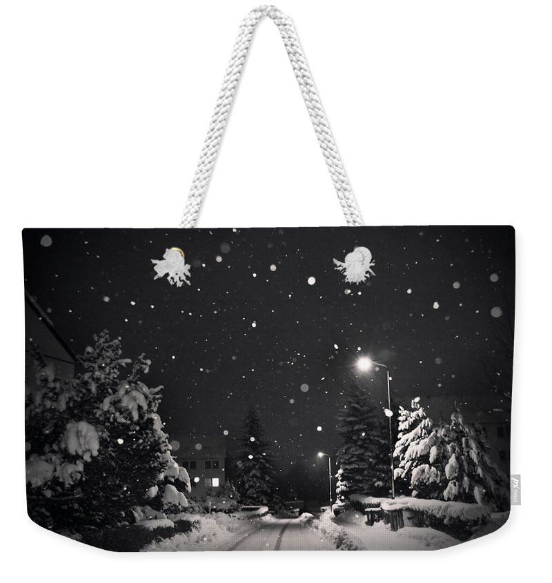 Snow Weekender Tote Bag featuring the photograph Silent Night by Dorit Fuhg