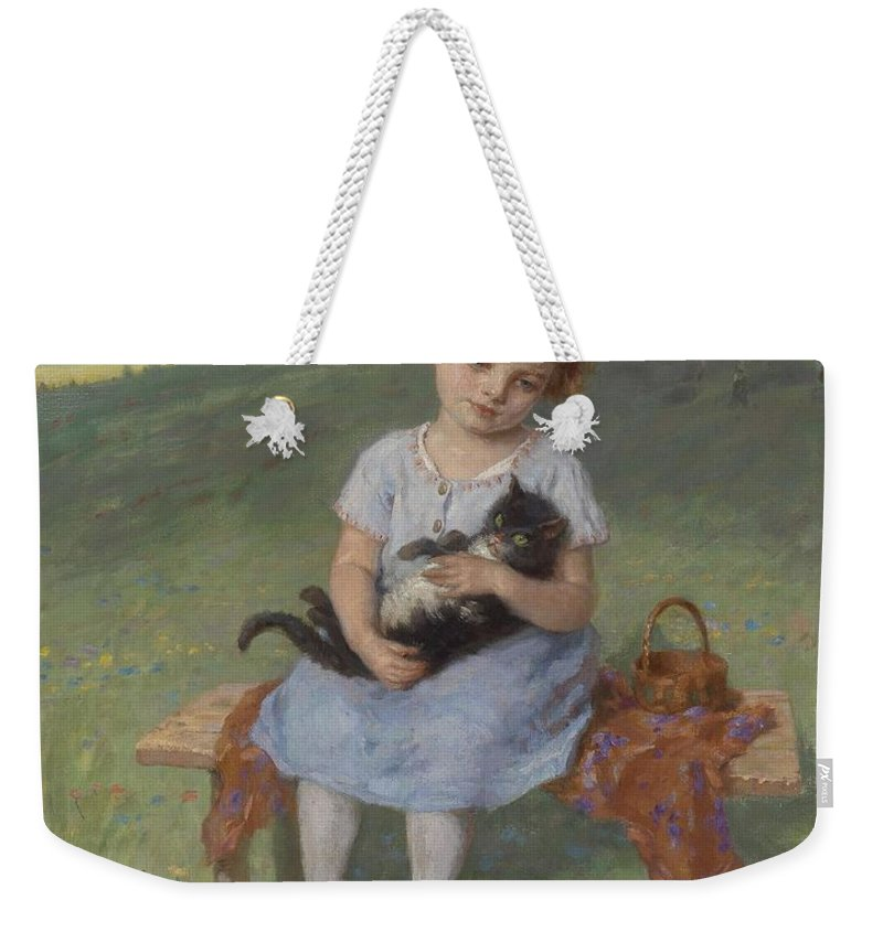 Simon Glucklich Weekender Tote Bag featuring the painting Simon Glucklich by MotionAge Designs