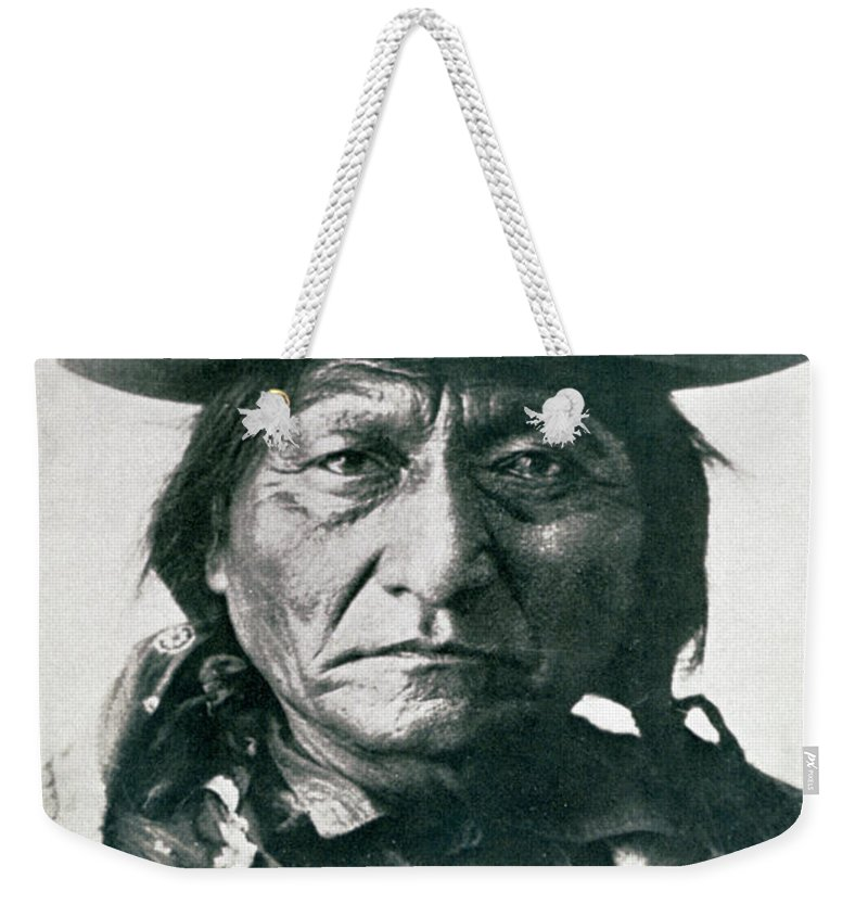 Sitting Bull Weekender Tote Bag featuring the photograph Sitting Bull by American School