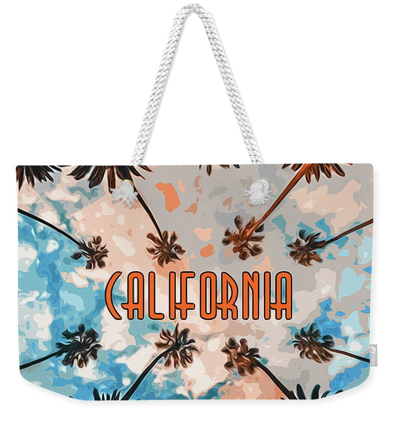 California Sunset Weekender Tote Bag featuring the painting Skies Of California by Andrea Mazzocchetti