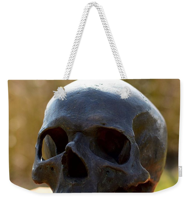 Skull Weekender Tote Bag featuring the photograph Skull by FL collection